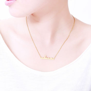 N00110 Stainless Steel Jewelry Vintage Accessories Choker 2016 Pendant Cityscape Skyline New York City State Necklace Women Men