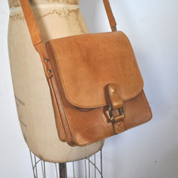 Eddie Bauer Leather Satchel Purse Bag