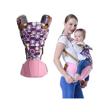 BABY LAB 0-36 Months Breathable Front Facing Baby Carrier 4 in 1 Infant hipseat Comfortable Ergonomic Baby Sling Backpack wrap