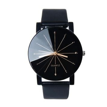 Fashion Leather Quartz Analog Quartz Wrist Watch