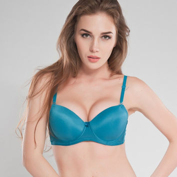 New 2016 women bra full cup bra 32 34 36  bra B\C\ size high quality blue gray black white 4color brassiere
