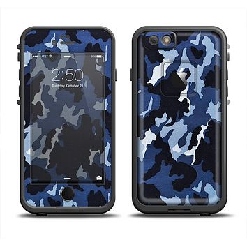 The Blue Vector Camo Apple iPhone 6 LifeProof Fre Case Skin Set