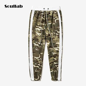 soullab autumn winter men male bottom camo camouflage military bomber jogger pants harem trousers sweatpants military tailor new