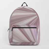 Pink Mother of Pearl Abstract Backpack by Sheila Wenzel