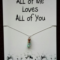 FREE SHIPPING All of Me Loves All of You Gift Valentine's Day Fashion Necklace