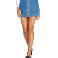American ApparelButton Front Denim Skirt