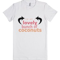 Lovely Bunch of Coconuts-Female White T-Shirt
