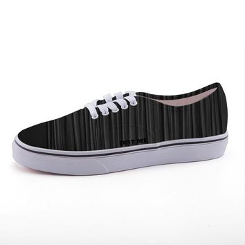Black Low-top Canvas Sneakers