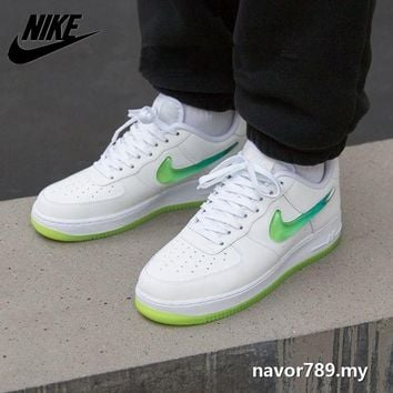 Nike Air Force 1 AF1 Couple Jelly Powder Gradual Hook Sports Leisure Shoes
