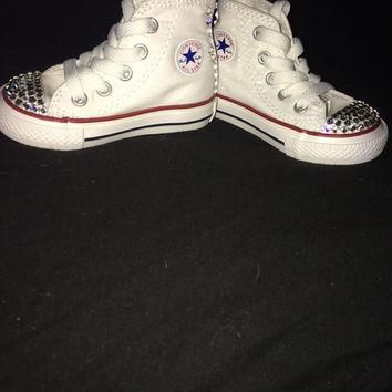 Swarovski crystal converse/chuck taylor shoes super cute handmade great gift for child