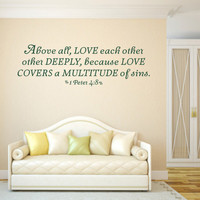Scripture Wall Decal. Above All Love Each Other - CODE 164