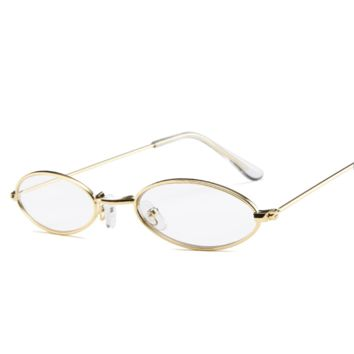 Daisy Metal Vintage Sunglasses - Clear
