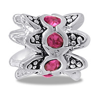 DaVinci Beads Pink CZ Crown Jewelry