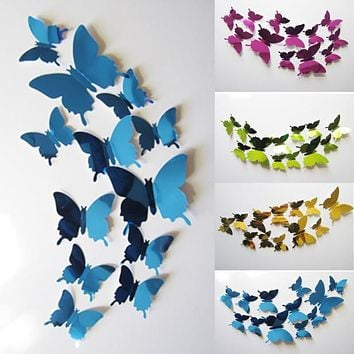 3D Butterflies Stickers Wall Art 4 colors