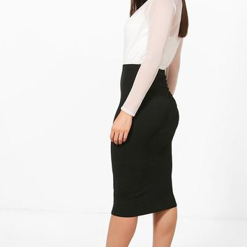 Cate Two Pack Basic Jersey Midi Skirts | Boohoo