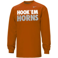 Nike Texas Longhorns Hook 'Em Horns Long Sleeve T-Shirt - Burnt Orange