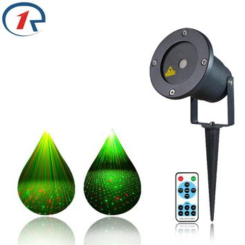 ZjRight IR Remote Outdoor RG Laser Light IP65 Projector sky star Laser Stage lights Xmas Decorative lights Holiday effect lights