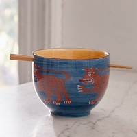 Tiger Bowl + Chopsticks Set | Urban Outfitters