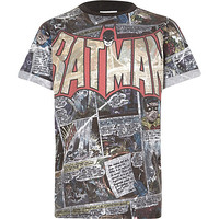 River Island Boys black batman print t-shirt