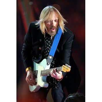 "Tom Petty Poster playing guitar 24""x36"""