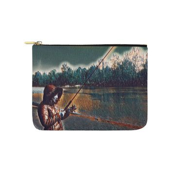 Levi Thang Fishing Design 6 Carry-All Pouch 8''x 6''