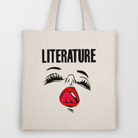 Lit Lust Tote Bag by Notalkingplz