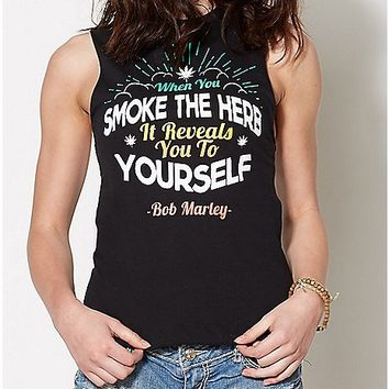 Reveal Yourself Bob Marley Tank Top - Spencer's