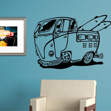 VW Bus Version 105 Sticker Wall Mural Art Graphic Beach Bug Volkswagon Beetle