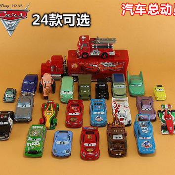 Disney Cars alloy car model toy car Lightning McQueen Dies road rage missile Tractor Black Knight Dies Frans high Pixar Cars