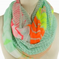 TWO SIDE NEON CHEVRON ETERNITY SCARF