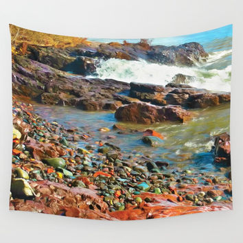 North Shore Waves 2 Wall Tapestry by Heidi Haakenson