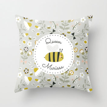 Personalized Queen Bee *your name* Pillow Case