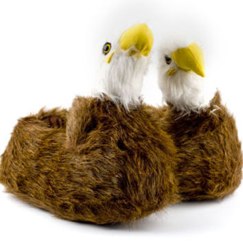 Bald Eagle Slippers | Animal Slippers | BunnySlippers.com