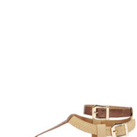 City Classified Bart Bronze and Light Tan Thong Sandals