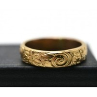 Handforged 14k Gold Fill Renaissance Wedding Band for Men and Women
