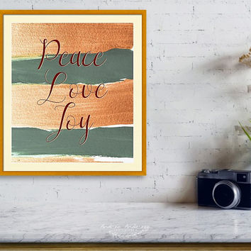 Peace Love Joy #holidays #Christmas by Andrea Anderegg Photography