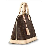Authentic Louis Vuitton Monogram Canvas Alma PM Tote Handbag Article:M53151 Made in France