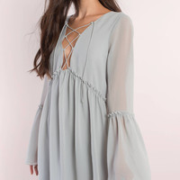 Addy Lace Up Shift Dress