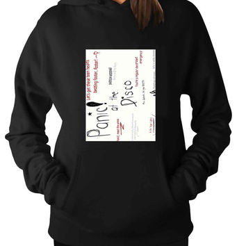 Panic At The Disco Lyric Quotes For Man Hoodie and Woman Hoodie S / M / L / XL / 2XL*AP*