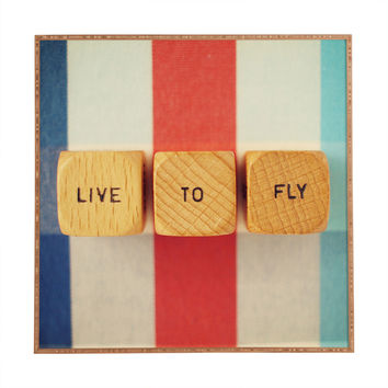 Happee Monkee Live To Fly Framed Wall Art