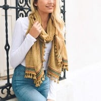 Boho Trim Scarf | Colors