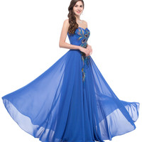 Long Royal Blue Prom Dress