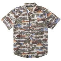 LRG Sunrise To Sunset S/S Woven Shirt - Men's at CCS