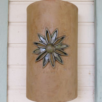 Southwestern Spanish style ceramic wall from Custom Cut Lighting