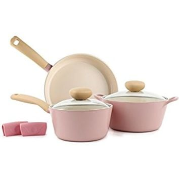 Retro 5 Piece Non-Stick Cookware Set
