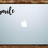 Smile Quote Laptop Apple Macbook Car Quote Wall Decal Sticker Art Vinyl Inspirational Happy Happiness Good Vibes