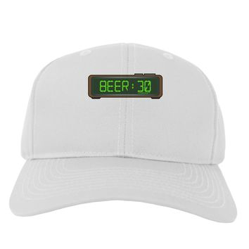 Beer 30 - Digital Clock Adult Baseball Cap Hat by TooLoud