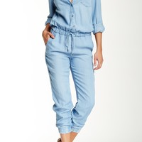 Chambray Long Sleeve Jumpsuit