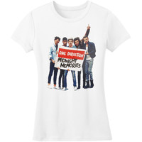 One Direction Women's  Midnight Memories Sign Girls Jr Soft tee White