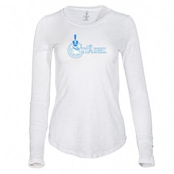 Official NCAA The Citadel Bulldogs - RYLCIT06 Women's Long Sleeve Slub Tee Shirt